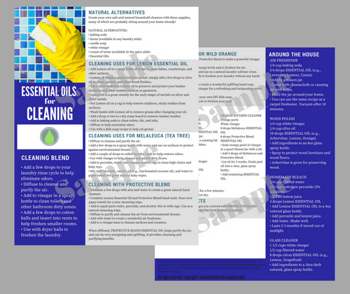 Essential Oils for Cleaning | Unlimited Printing Digital Tear Pad