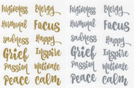 Mood Collection Vinyl Labels For Essential Oil Emotional DIY Blends