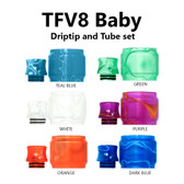 Replacement Tube & Driptip Set - For Smok TFV8 Baby