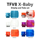 Replacement Tube & Driptip Set - For Smok TFV8 X-Baby