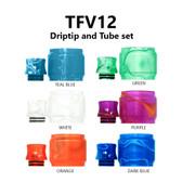 Replacement Tube & Driptip Set - For Smok TFV12