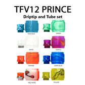 Replacement Tube & Driptip Set - For Smok TFV12 Prince