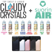 Cloudy Crystals Nic Salt Bundle [FREE Suorin Air!] | 8 x 10ml | 30mg