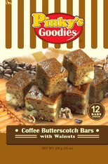 Coffee Butterscotch Bars with Walnuts
