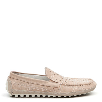 Perforated Leather Summer Moccasins MP 7134914 LGN