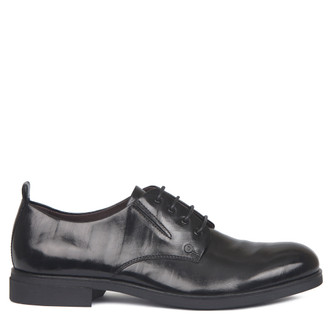 Textured Leather Derby Shoes GL 7217117 BLA