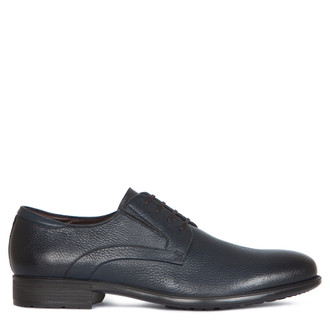 Grained Leather Classic Derby Shoes MP 7294016 NVB