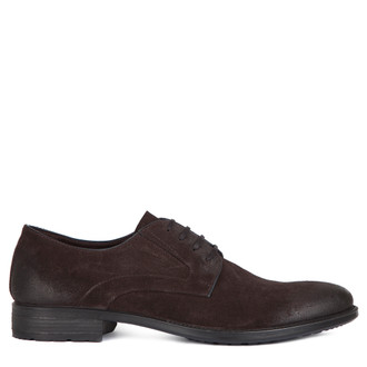 Suede Classic Derby Shoes MP 7294116 BRS