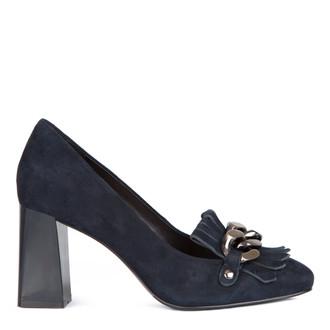 Suede Block Heel Loafers  GF 5277517 NVZ