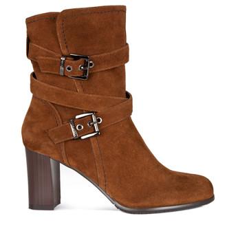Suede Block Heel Boots GD 5373116 CGV