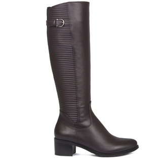 Smooth and Quilted Leather Long Boots GD 5449017 BDA