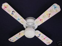 "New PRINCESS PRINCESSES Ceiling Fan 42"" 42FAN-DIS-PPD"