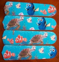 """New FINDING NEMO 42"""" Ceiling Fan BLADES ONLY"""