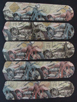 """New VINTAGE MOTORCYCLES 52"""" Ceiling Fan BLADES ONLY"""