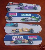 """New INDY 500 RACING CARS 52"""" Ceiling Fan BLADES ONLY"""