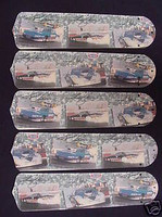 """New NHRA DRAG RACE CARS 52"""" Ceiling Fan BLADES ONLY"""