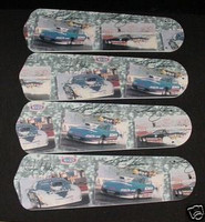 """New NHRA DRAG RACE CARS 42"""" Ceiling Fan BLADES ONLY"""