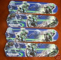 """New KAWASAKI MOTORCYCLES 42"""" Ceiling Fan BLADES ONLY"""