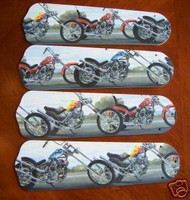 """New MOTORCYCLES CHOPPERS 42"""" Ceiling Fan BLADES ONLY"""
