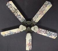 "New VINTAGE NOSTALGIC MOTORCYCLES Ceiling Fan 52"""