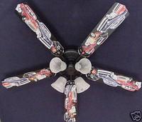 "New 1950s HOT ROD MUSCLE CAR CARS Ceiling Fan 52"""
