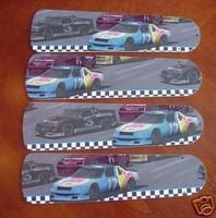 """New NASCAR RACE CAR CARS Ceiling Fan 52"""""""