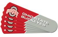 "New NCAA OHIO STATE BUCKEYES 42"" Ceiling Fan Blade Set"