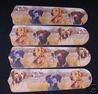 """New LABRADOR LAB DOGS DOG 42"""" Ceiling Fan BLADES ONLY"""