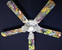 "New LIZARD GECKO IGUANA RAINFOREST Ceiling Fan 52"""