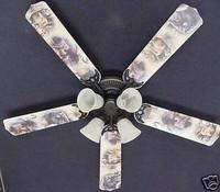 """New BEAR MOOSE DEER WILDERNESS Ceiling Fan 52"""""""