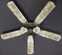"""New BLACK BEAR LOG CABIN WILDERNESS Ceiling Fan 52"""""""