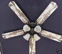 """New BEAR MOOSE CABIN FISHING WILDERNESS Ceiling Fan 52"""""""