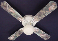 """New LARGE MOUTH BASS FISH Ceiling Fan 42"""""""