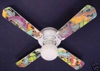 "New LIZARD GECKO IGUANA RAINFOREST Ceiling Fan 42"""
