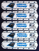 """New NFL CAROLINA PANTHERS 52"""" Ceiling Fan BLADES ONLY"""