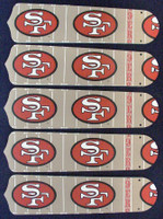 """New NFL SAN FRANCISCO 49ERS 52"""" Ceiling Fan BLADES ONLY"""