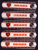 "New NFL CHICAGO BEARS 52"" Ceiling Fan BLADES ONLY"