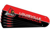 """New NCAA LOUISVILLE CARDINALS 42"""" Ceiling Fan Blade Set"""