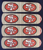"""New NFL SAN FRANCISCO 49ERS 42"""" Ceiling Fan BLADES ONLY"""