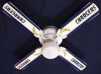 New NFL LOS ANGELES CHARGERS FOOTBALL Ceiling Fan 42""