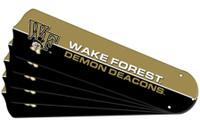 "New NCAA WAKE FOREST DEMON DEACONS 52"" Ceiling Fan Blade Set"