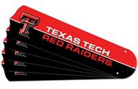 "New NCAA TEXAS TECH RED RAIDERS 52"" Ceiling Fan Blade Set"