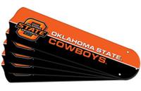 "New NCAA OKLAHOMA STATE COWBOYS 52"" Ceiling Fan Blade Set"