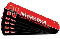 """New NCAA NEBRASKA CORNHUSKERS 52"""" Ceiling Fan Blade Set"""
