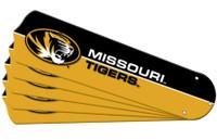 "New NCAA MISSOURI TIGERS 52"" Ceiling Fan Blade Set"