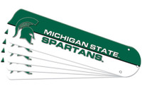 """New NCAA MICHIGAN STATE SPARTANS 52"""" Ceiling Fan Blade Set"""