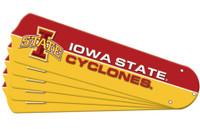 "New NCAA IOWA STATE CYCLONES 52"" Ceiling Fan Blade Set"