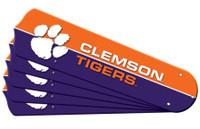 "New NCAA CLEMSON  TIGERS 52"" Ceiling Fan Blade Set"
