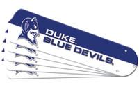 """New NCAA DUKE BLUE DEVILS 52"""" Ceiling Fan Blade Set"""