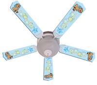 """New BABY NURSERY TOYS BLOCKS BLUE Ceiling Fan 52"""""""